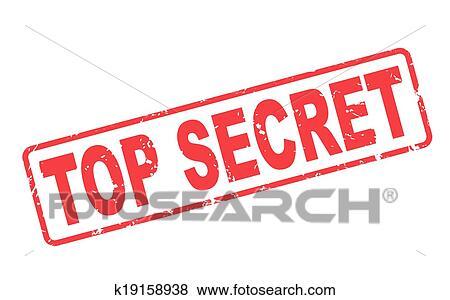 clip art of stamp top secret with red text on white k19158938 rh fotosearch com Secret Agent Clip Art top secret envelope clip art