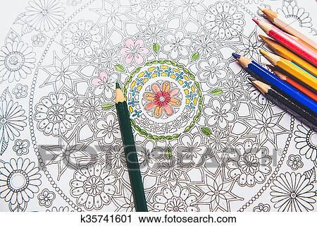Stock Fotografie Anti Stress Ausmalbilder In Dass Zeichnung