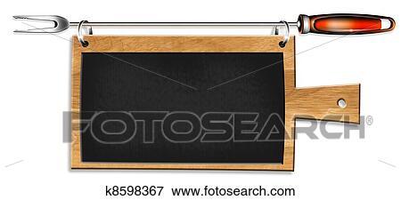 Leer, kueche, tafel Stock Illustration | k8598367 | Fotosearch