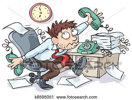 clipart of office worker k8595051 search clip art illustration rh fotosearch com office worker clipart funny overworked office worker clipart
