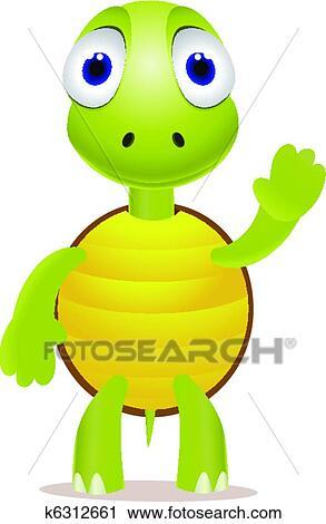 Clipart rigolote peu tortue k6312661 recherchez des - Image tortue rigolote ...