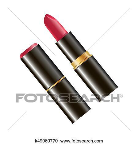 Clipart - rojo, coloreado, lápiz labial k49060770 - Buscar Clip Art ...