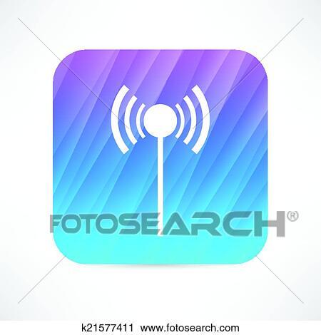 Clipart - wi-fi, antenne, symbol k21577411 - Suche Clip Art ...