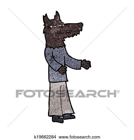 Cartone animato uomo lupo clipart k fotosearch