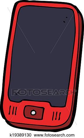 Dessin Anime Telephone Portable Clipart K19389130 Fotosearch