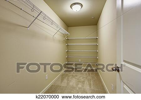 empty walk in closet royalty free empty narrow walkin closet with shelves stock photography of k22070000 search