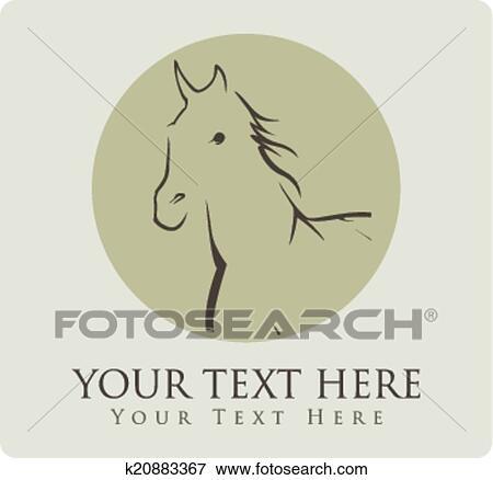 Clip Art Of Horse Symbol Vector Illustration K20883367 Search