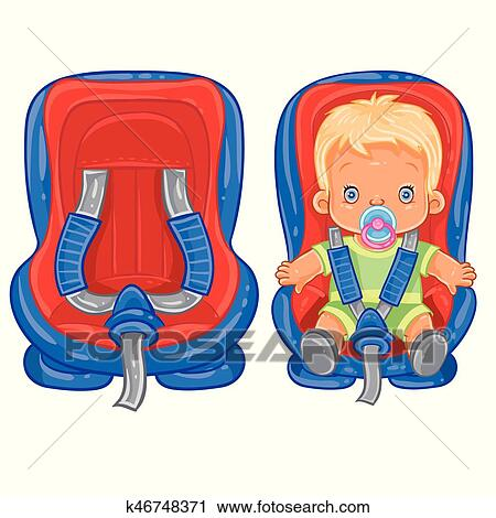 clipart of small child in car seat k46748371 search clip art rh fotosearch com car seat clipart free car seat clipart