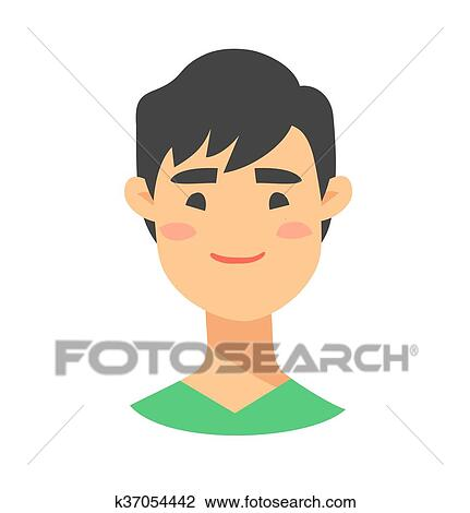 Clipart Of Young Asian Male Character Cartoon K37054442 Search