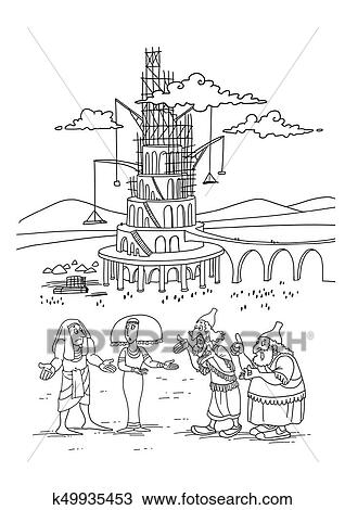 A Construtores De A Torre De Babel Desenho K49935453
