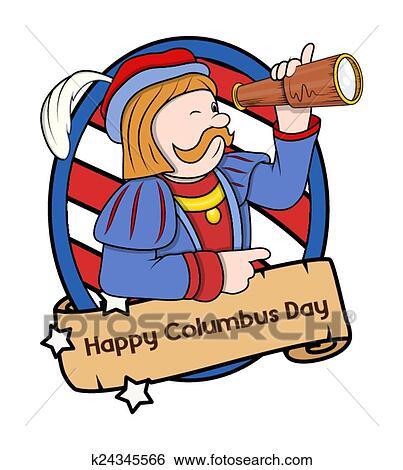 clip art of columbus day vector cartoon k24345566 search clipart rh fotosearch com clipart columbus ship columbus clipart free