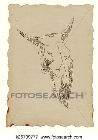 Cow Skull Clip Art K26739777 Fotosearch