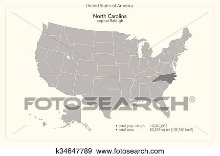 North carolina Clip Art | k34647789 | Fotosearch