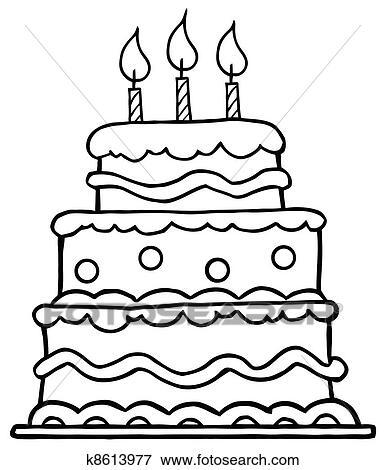 Cake Clipart Black And White, HD Png Download , Transparent Png Image -  PNGitem