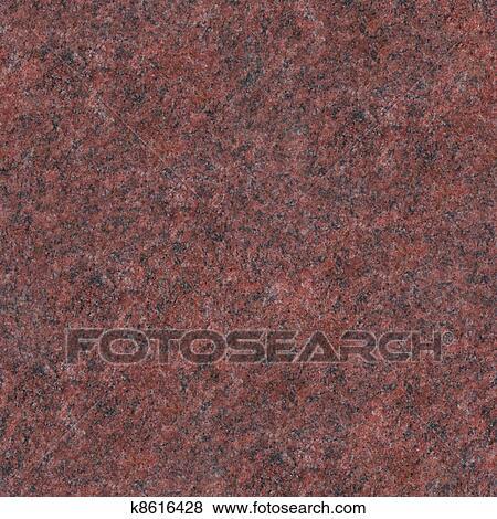 Seamless Red Granite Texture Close Up Photo