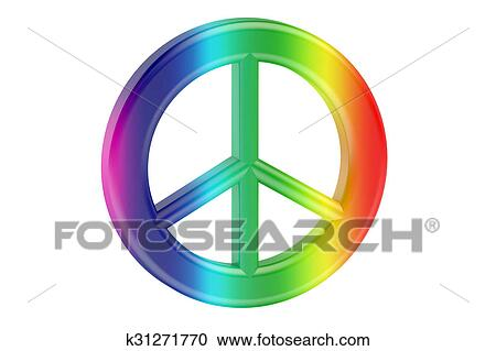 Stock Illustrations Of Colored Peace Symbol Pacifism K31271770
