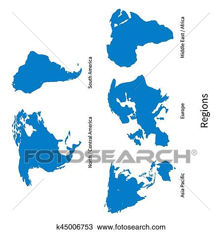 Carte Geographique Asie Pacifique.Detaille Vecteur Carte De Nord Amerique Centrale Asie