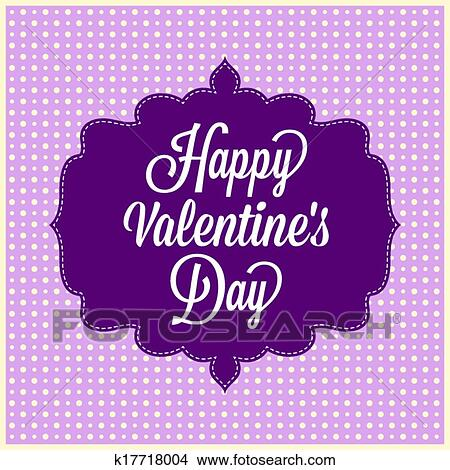 Clipart Of Happy Valentine S Day Vintage Card K17718004 Search
