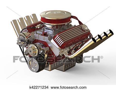Zeichnungen - heißer rod, v8, motor, 3d, render k42271234 - Suche ...