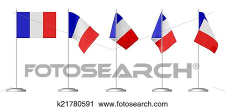 Small Table Flag Of France Clip Art K21780591 Fotosearch