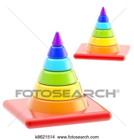 desenhos tráfego segurança arco íris estrada cones isolado