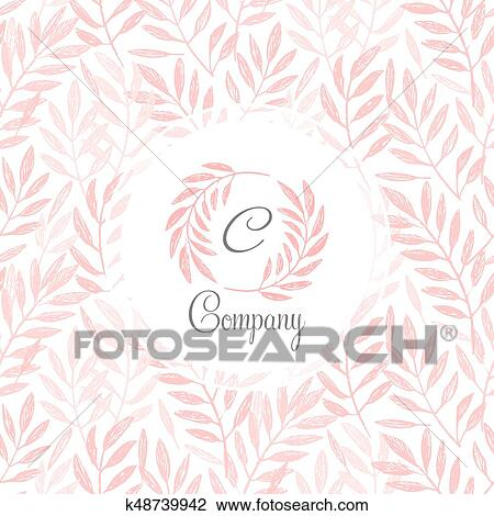 Tropical Palm Leaves Foliage Wreath Round Frame Clipart K48739942 Fotosearch Composition with exotic plants in simple. fotosearch