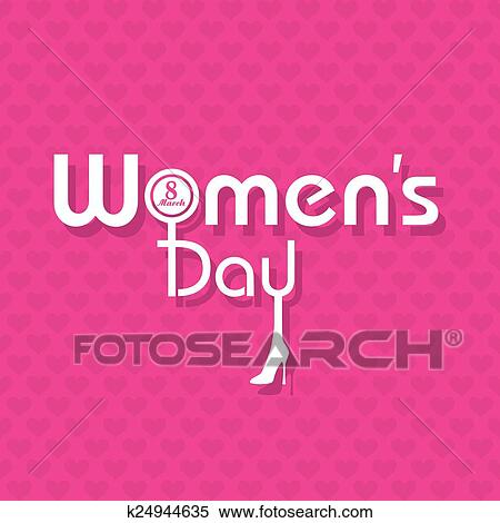 Clipart of womens day greeting card design k24944635 search clip clipart womens day greeting card design fotosearch search clip art illustration murals m4hsunfo