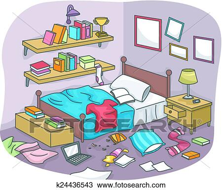 clipart of messy room k24436543 search clip art illustration rh fotosearch com Clean Room Clip Art Cluttered Room
