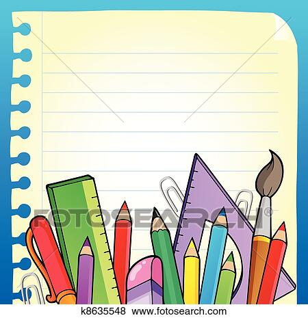 clip art of notepad blank page and stationery 2 k8635548 search