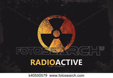 Clip Art Of Nuclear Logo Radioactive Logo Design Radiation Symbol