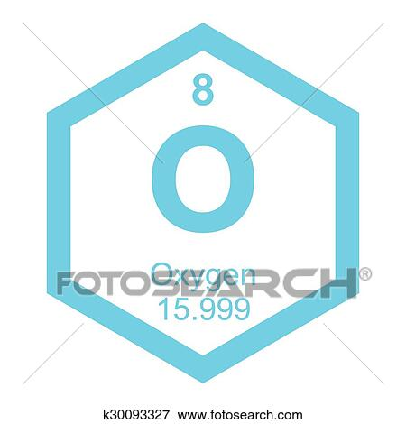 Clip art of periodic table oxygen element k30093327 search clipart periodic table oxygen element urtaz Images