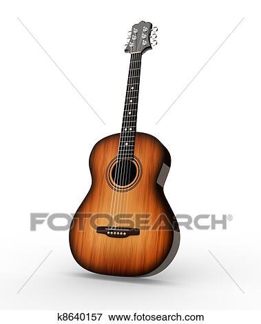 アコースティックギター イラスト K8640157 Fotosearch