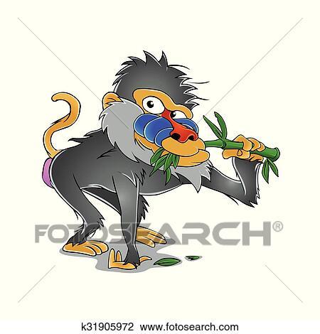 Clipart babouin dessin anim k31905972 recherchez des - Dessin de babouin ...