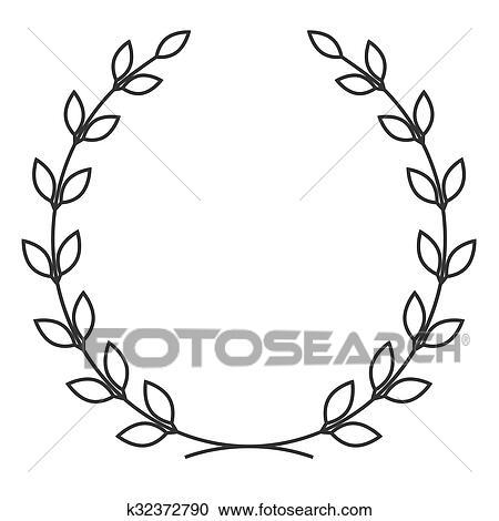 Clipart couronne laurier symbole k32372790 recherchez - Clipart couronne ...