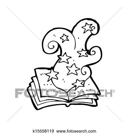 Dessin Anime Charme Magique Livre Banque D Illustrations