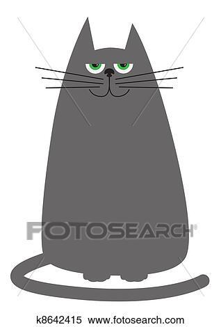 Funny Cartoon Cat Clipart K8642415