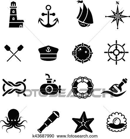 clipart marinho mar náutico pirata marítimo vetorial retro