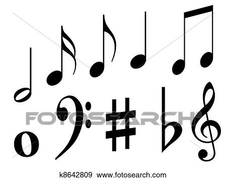 Stock Illustration Of Music Symbols K8642809 Search Vector Clipart