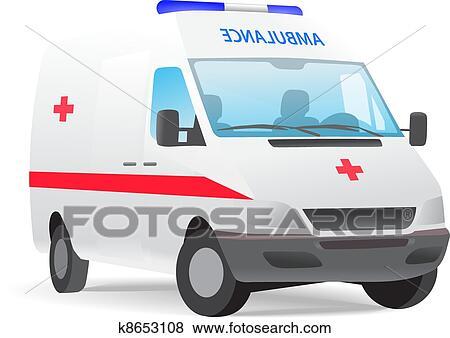 سيارة إسعاف جناح Clip Art K8653108 Fotosearch