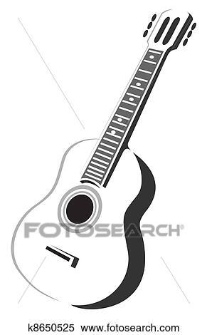 アコースティックギター イラスト K8650525 Fotosearch
