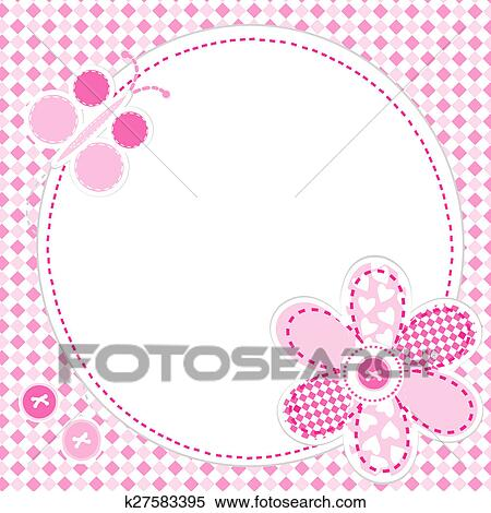 Stock Illustration Of Baby Girl Greeting Card K27583395 Search