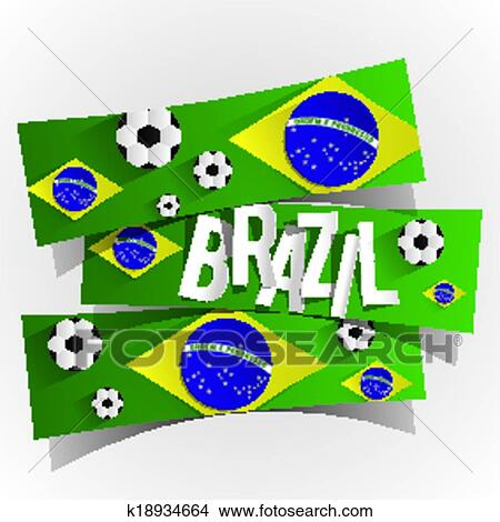 clipart of creative abstract brazilian flag k18934664 search clip