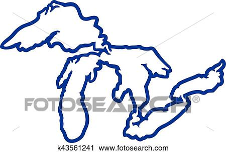 clipart of great lakes silhouette contour k43561241 search clip rh fotosearch com great clipart black and white great clip art images