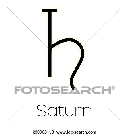 Clipart Of Planet Symbols Saturn K30968153 Search Clip Art
