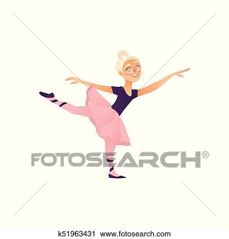 Vettore Cartone Animato Adolescente Capretto Ballerina Isolato