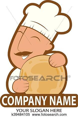 ロゴ Indian シェフ Indian 料理 ベクトル イラスト 上に