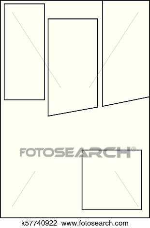 Clipart Of Comic Storyboard Layout 14 K57740922 Search Clip Art