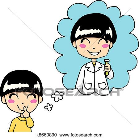 clipart of sweet scientist dream k8660890 search clip art rh fotosearch com clipart dream clip art cream cheese frosting
