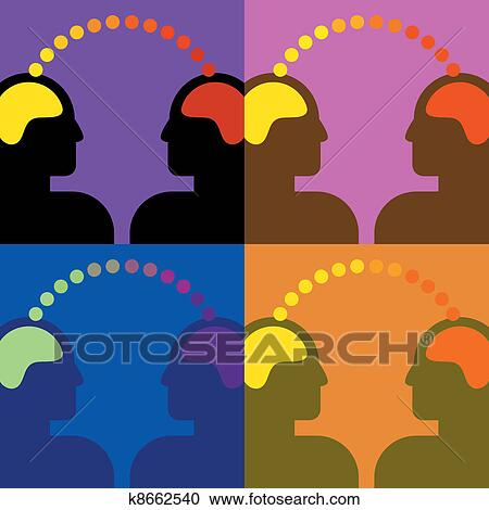 Two Heads are Better than One Metaphor Vector Illustration Clipart |  k41170031 | Fotosearch
