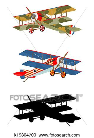 clipart of vintage airplane k19804700 search clip art rh fotosearch com vintage airplanes clipart vintage airplane clip art free